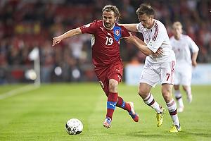 Petr Jiracek (Tjekkiet), William Kvist J�rgensen (Danmark)