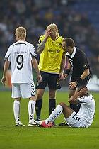 Steffen Kielstrup (AC Horsens), Simon Makienok Christoffersen (Br�ndby IF), Michael Johansen, dommer