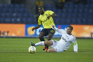 Franck Semou (Br�ndby IF), Martin Retov, anf�rer (AC Horsens)
