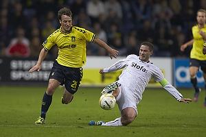 Mike Jensen (Br�ndby IF), Martin Retov, anf�rer (AC Horsens)