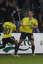 Mike Jensen, m�lscorer (Br�ndby IF), Quincy Antipas (Br�ndby IF)