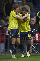 Quincy Antipas (Br�ndby IF), Jens Larsen, m�lscorer (Br�ndby IF)