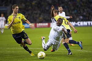Clarence Goodson, anf�rer (Br�ndby IF), Jude Nwruh (AC Horsens), Anders Randrup (Br�ndby IF)