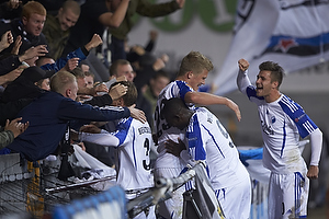 Andreas Cornelius, m�lscorer (FC K�benhavn), Igor Vetokele (FC K�benhavn), Pierre Bengtsson (FC K�benhavn)