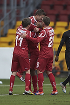 Joshua John, m�lscorer (FC Nordsj�lland), Morten Nordstrand (FC Nordsj�lland), Kasper Lorentzen (FC Nordsj�lland)