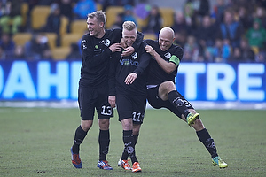 Ronnie Schwartz, m�lscorer (Randers FC), Mads Fenger (Randers FC), Johnny Thomsen (Randers FC)