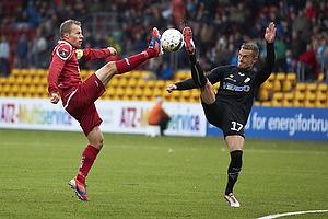 Nikolaj Stokholm, anf�rer (FC Nordsj�lland), Jonas Kamper (Randers FC)