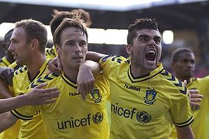 Mike Jensen, m�lscorer (Br�ndby IF), Daniel Norouzi (Br�ndby IF)