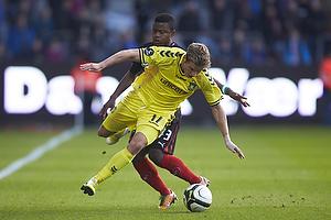 Jens Larsen, anf�rer (Br�ndby IF), Izunna Arnest Uzochukwu (FC Midtjylland)