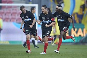 Danny Olsen, m�lscorer (FC Midtjylland), Jesper Lauridsen (FC Midtjylland), Noah Olawale Ojuola (FC Midtjylland)