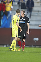 Clarence Goodson, anf�rer (Br�ndby IF), Morten Rasmussen (FC Midtjylland)