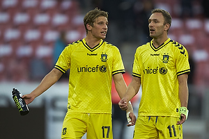 Jens Larsen, anf�rer (Br�ndby IF), Dennis Rommedahl (Br�ndby IF)