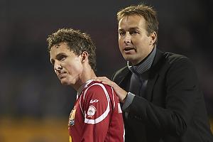 Morten Nordstrand (FC Nordsj�lland), Kasper Hjulmand, cheftr�ner (FC Nordsj�lland)