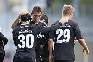 Cristian Bolanos (FC K�benhavn), Claudemir De Souza (FC K�benhavn), Andreas Cornelius, m�lscorer (FC K�benhavn)