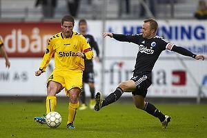 Martin Retov, anf�rer (AC Horsens), Lars Jacobsen, anf�rer (FC K�benhavn)