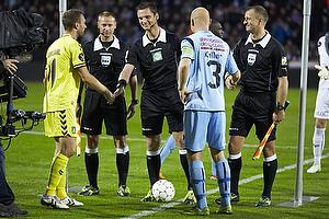 Dennis Rommedahl, anf�rer (Br�ndby IF), Christian Keller, anf�rer (Randers FC)