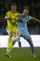 Mikkel Thygesen (Br�ndby IF), Christian Keller, anf�rer (Randers FC)