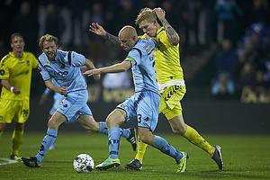 Simon Makienok Christoffersen (Br�ndby IF), Christian Keller, anf�rer (Randers FC)