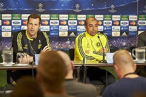 Petr Cech (Chelsea FC), Roberto Di Matteo, cheftr�ner (Chelsea FC)