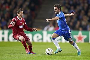 Juan Mata (Chelsea FC), Morten Nordstrand (FC Nordsj�lland)