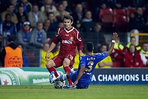 Michael Parkhurst (FC Nordsj�lland), Ashley Cole (Chelsea FC)