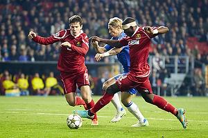 Jores Okore (FC Nordsj�lland), Fernando Torres (Chelsea FC), Ivan Runje (FC Nordsj�lland)