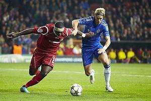 Jores Okore (FC Nordsj�lland), Fernando Torres (Chelsea FC)