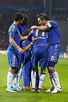 David Luiz, m�lscorer (Chelsea FC), Frank Lampard, anf�rer (Chelsea FC), Oscar (Chelsea FC)