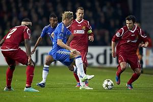 Fernando Torres (Chelsea FC), Michael Parkhurst (FC Nordsj�lland), Jores Okore (FC Nordsj�lland), Nikolaj Stokholm, anf�rer (FC Nordsj�lland)