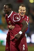 Jores Okore, m�lscorer (FC Nordsj�lland), Nikolaj Stokholm, anf�rer (FC Nordsj�lland)