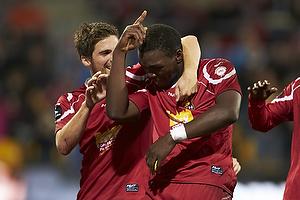 Jores Okore, m�lscorer (FC Nordsj�lland), S�ren Christensen (FC Nordsj�lland)