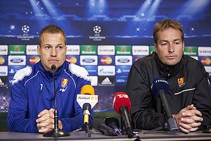 Nikolaj Stokholm (FC Nordsj�lland), Kasper Hjulmand, cheftr�ner (FC Nordsj�lland)