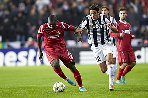 Jores Okore (FC Nordsj�lland), Alessandro Matri (Juventus FC)