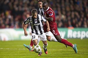 Sebastian Giovinco (Juventus FC), Jores Okore (FC Nordsj�lland)