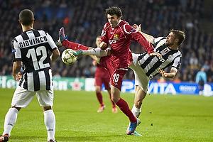 Michael Parkhurst (FC Nordsj�lland), Claudio Marchisio (Juventus FC)