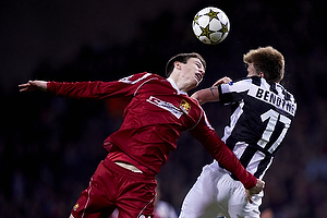 Ivan Runje (FC Nordsj�lland), Nicklas Bendtner (Juventus FC)