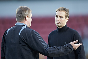 Kasper Hjulmand, cheftr�ner (FC Nordsj�lland), Kent Nielsen, cheftr�ner (Aab)