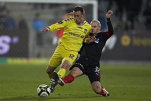 Brent McGrath (Br�ndby IF), Kristian Bak Nielsen (FC Midtjylland)