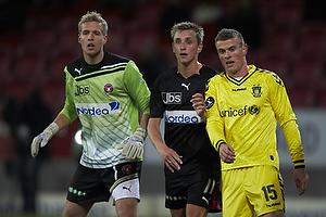 Jonas L�ssl (FC Midtjylland), Danny Olsen (FC Midtjylland), Mikkel Thygesen (Br�ndby IF)