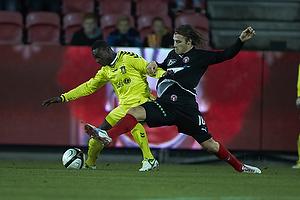 Oke Akpoveta (Br�ndby IF), Erik Sviatchenko (FC Midtjylland)