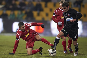 Oguzhan Aynaoglu (FC Nordsj�lland), Santiago Hernan Villafane (FC Midtjylland)