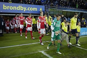 Clarence Goodson, anf�rer (Br�ndby IF), Lasse Heinze, anf�rer (Silkeborg IF), Simon Jakobsen (Silkeborg IF), Nicolaj Ritter (Silkeborg IF)