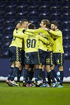 Mikkel Thygesen (Br�ndby IF), Quincy Antipas, m�lscorer (Br�ndby IF), Mathias Gehrt (Br�ndby IF)