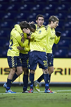 Frederik Holst (Br�ndby IF), Mathias Gehrt (Br�ndby IF), Quincy Antipas, m�lscorer (Br�ndby IF)