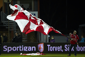 Silkeborg-fan med flag