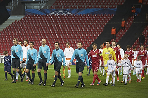 Antony Gautie, dommer, Nikolaj Stokholm (FC Nordsj�lland), Jesper Hansen (FC Nordsj�lland)