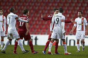 Luiz Adriano, m�lscorer (Shakhtar Donetsk), S�ren Christensen (FC Nordsj�lland), Fernandinho (Shakhtar Donetsk)