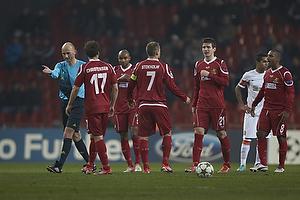 Antony Gautie, dommer, Nikolaj Stokholm, anf�rer (FC Nordsj�lland), Ivan Runje (FC Nordsj�lland), S�ren Christensen (FC Nordsj�lland)