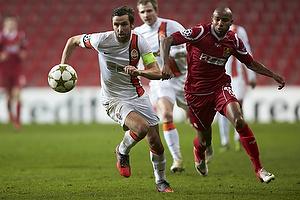 Darijo Srna (Shakhtar Donetsk), Joshua John (FC Nordsj�lland)