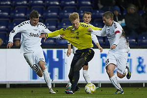 Simon Makienok Christoffersen (Br�ndby IF), Martin Retov, anf�rer (AC Horsens), Mads Agesen (AC Horsens)
